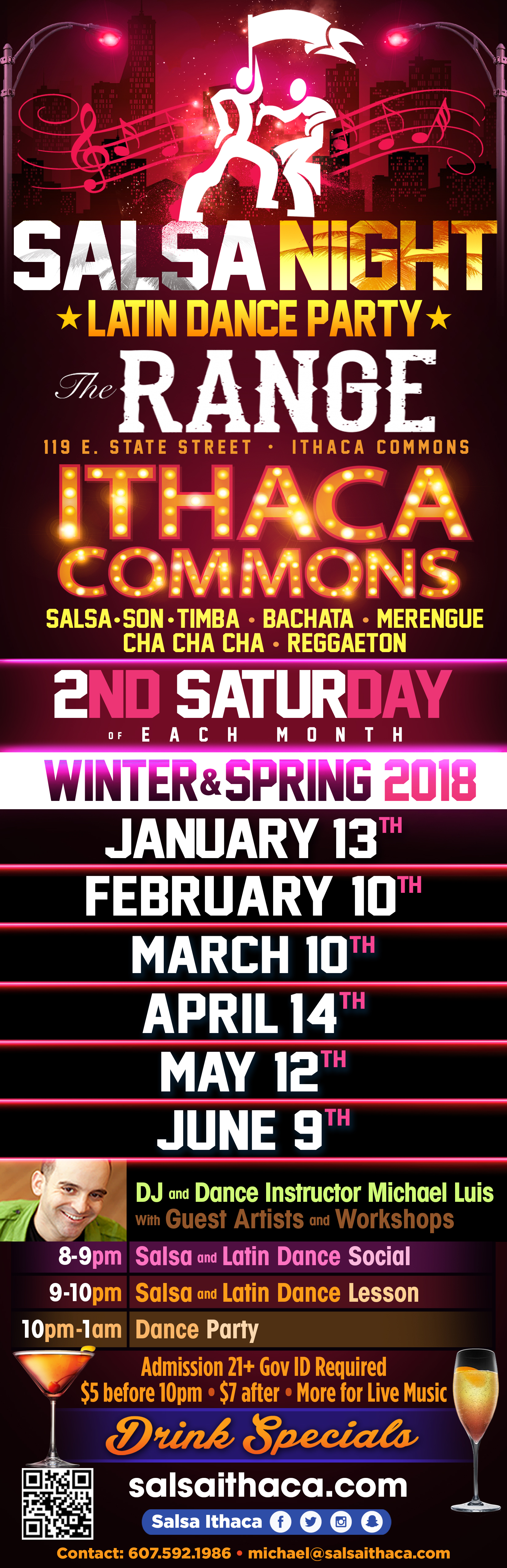 salsa dancing dance ithaca nightlife the range sexy son baile latino commons downtown