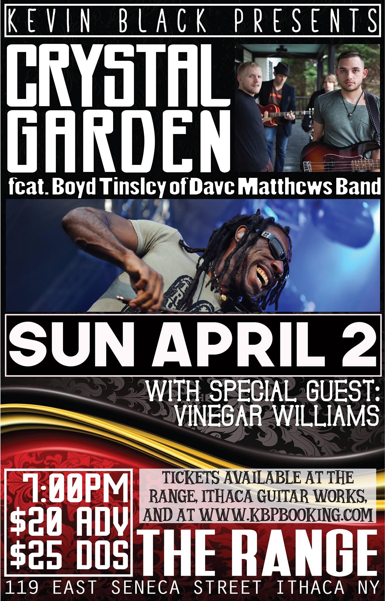 boyd tinsley dave matthews band crystal garden the range ithaca - Crystal Garden