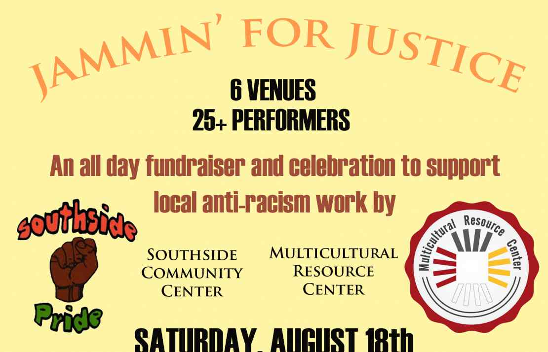 jammin jamming for justice southside community center mrc multicultural resource fundraiser event charity fundraising racism black african american reggae kevin kinsella jbb ithaca downtown the range west end westy commons chanticleer kava concert