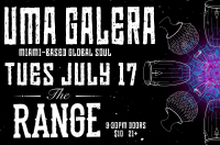 Uma Galera Grassroots pre pregrassroots ithaca live music funk miami soul reggae dance party show concert what to do tuesday night the range